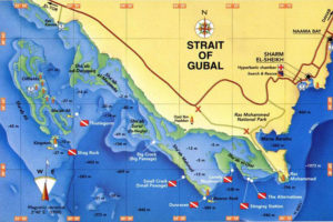 Карта дайв-сайтов пролива Губал