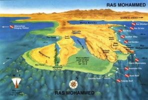 Карта дайв-сайтов заповедника Рас Мохаммед